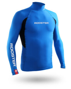 Rooster Rash Top Blue Long Sleeve