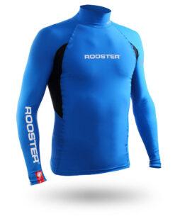 Rooster Rash Top Blue Long Sleeve