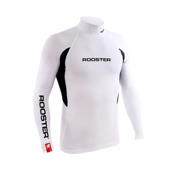 Rooster Rash Top White Long Sleeve