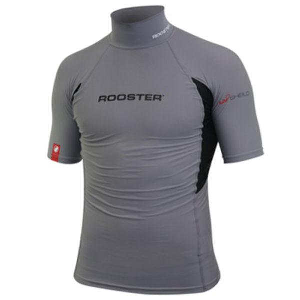 Rooster Rash Top Grey Short Sleeve