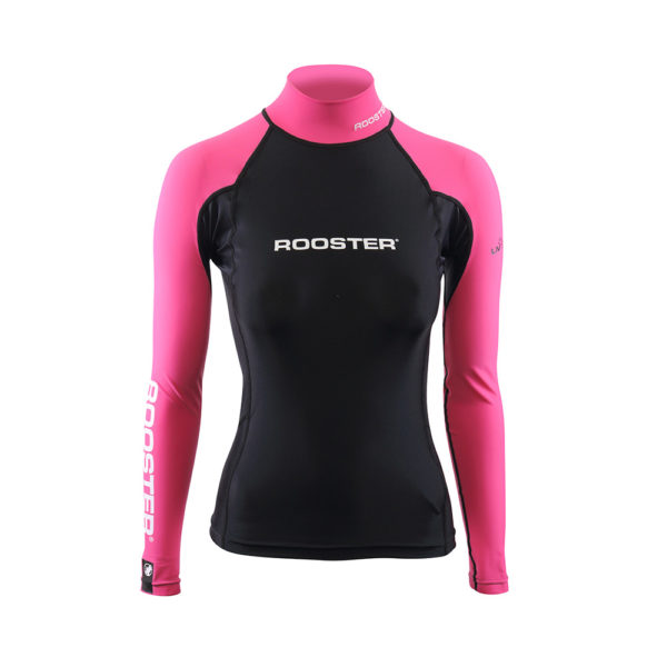 Rooster Rash Top Pink Womens